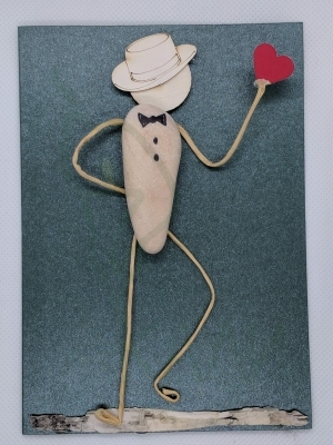 "Handmade card - ""Gentleman in love"""