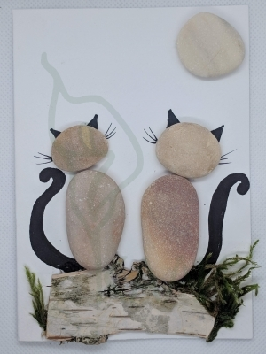 "Handmade card - "" Two cats"""