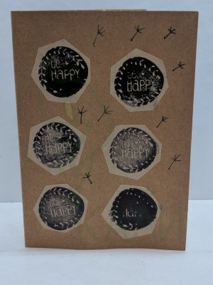 "Handmade gift card - ""Be Happy"""