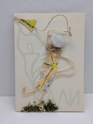"Handmade gift card - ""Travelling man"""