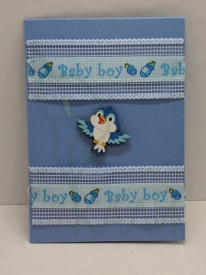 "Handmade gift card - ""Baby chicken"""
