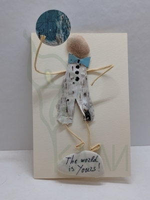 "Handmade gift card - ""The world is yours"""