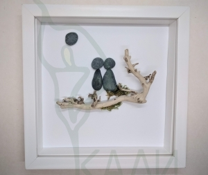 "Handmade framed artwork - ""In love"""