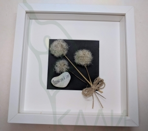 "Handmade framed artwork - ""Make a wish!"""