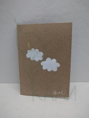 "Handmade gift card - ""Loving clouds"""