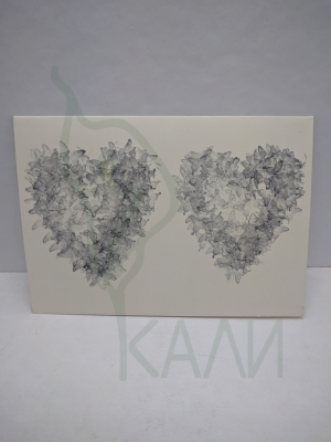 "Handmade gift card - ""Hearts"""