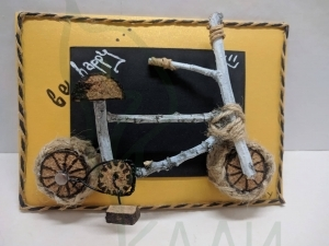 "Handmade gift card - ""Bike"""