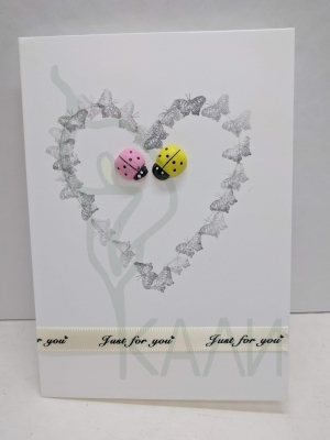 "Handmade gift card - ""Loving Ladybugs"""