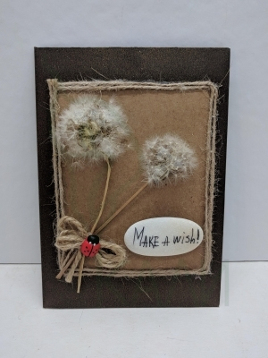 "Handmade gift card - ""Make a wish"""