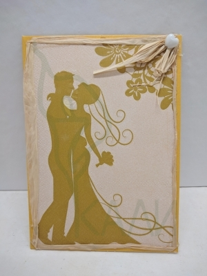 "Handmade gift card - "" Golden wedding"""
